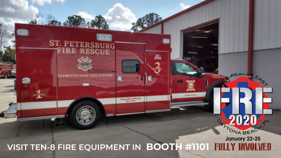 Braun Chief XL Type I Ambulance On Display at Fire Rescue EAST 2020 in Daytona Beach, Florida